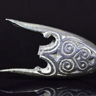 Medieval Viking Bronze Decorated Scabbard Terminal