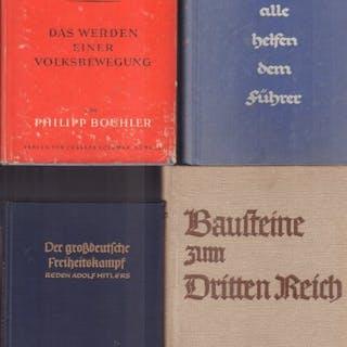 Deutschland - 4 politische Bücher aus dem Dritten Reich - 1937