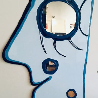 """Gaetano Pesce - Fish Design - Specchio """"LOOK AT ME"""" - ."""