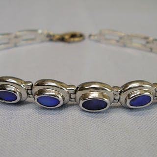925 Silber - Armband - 4.00 ct Opal