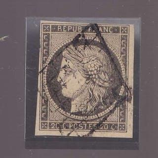 France 1849 - Sup Ceres 10c gris-noir - Yvert 3c