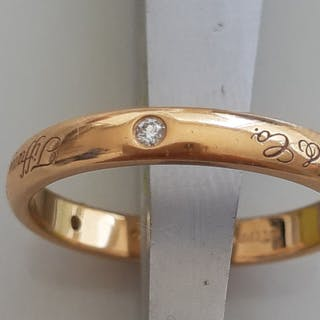 Tiffany - 18 kt. Yellow gold - Ring Diamond