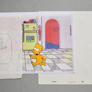 Matt Groening - The Simpsons - Small Collection - Drawings and Cel - (1989/1999)