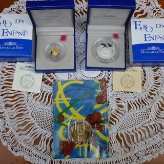 Frankreich - 1/4 Euro - 2002 série complète euro des...