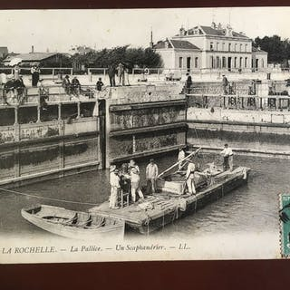 France - Le Port de La Rochelle - Cartes postales (Collection de 74) - 1900-1920