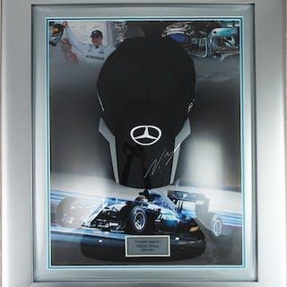 Signed Mercedes F1 - Formula One - Valtteri Bottas - Signed Framed Cap