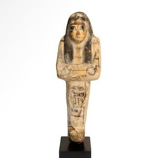 Ancient Egyptian Wood Shabti for Sen-Netjeri-en-Ptah, Ptolemaic Period