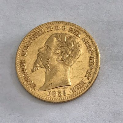 Italia - 20 lire Lira 1859 Vittorio Emanuele II - Oro