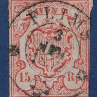 """Schweiz 1850 - Rayon III sogenannte """"Kleine Wertziffer""""..."""