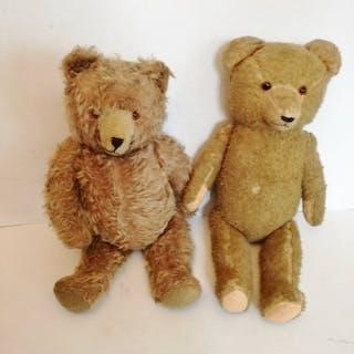 unbekannt - Plüschtier zwei braune Bären - 1940-1949