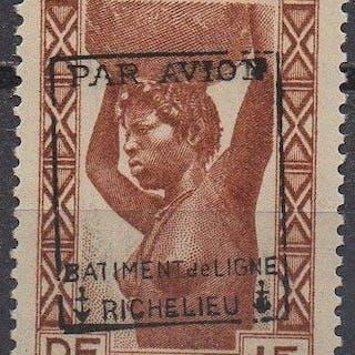 France 1943 - 1 f. brun-rouge, signé Calves - Yvert Poste Aérienne Militaire 6