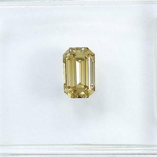 Diamant - 0.42 ct - Smaragd - Natural Fancy Brownish Yellow - VVS2