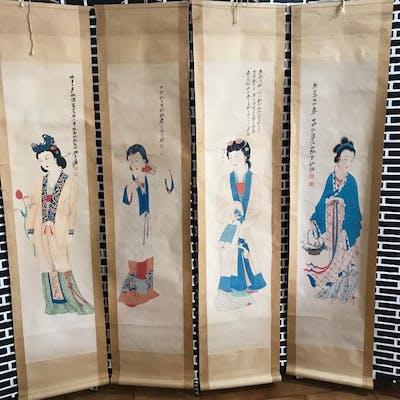Ink painting (4) - 中国卷轴画在纸上 - In style of Zhang-daqian