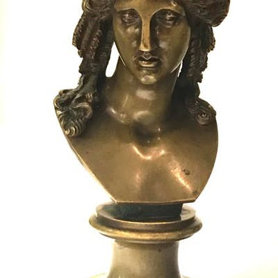 A bust of Eros di Centocelle after the Antique - Bronze...