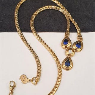d860710c6e6c78 CHRISTIAN DIOR 18kt gold plated - Crystal Necklace