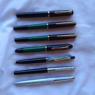 Pelikan - lotto 6 penne stilografiche e 1 sfera pelikan - 7