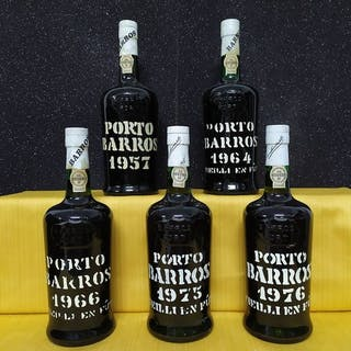 Barros Colheita Port: 1957 & 1964 & 1966 & 1975 & 1976 - 5 Botellas (0,75 L)