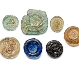 Römisches Reich Glas Figurensiegel / Gewichte (sehr selten) - (7)