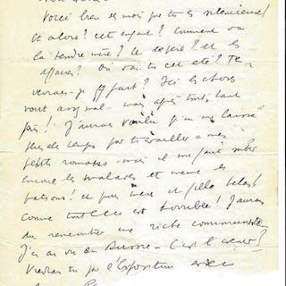 Louis Ferdinand Céline - Autograph; (Not signed) letter...