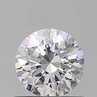 1 pcs Diamant - 0.55 ct - Brillant - D (incolore) - IF (pas d'inclusions), 3EX