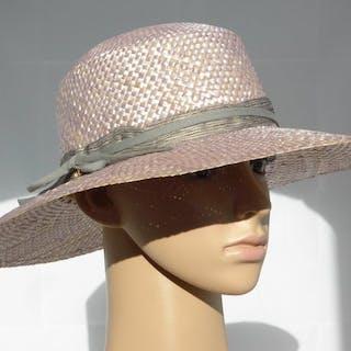 Borsalino - Swarovski summer silver pearled color floppy hat - Nuovo! Cappello