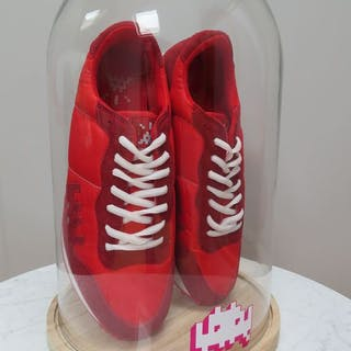"""Invader- Red Sneakers """"01 Point"""""""