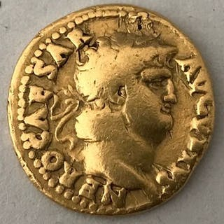Römisches Reich - Aureus, Nero (54-68). Rome, ca. AD 65-66 - Salus - Gold