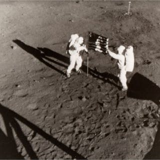 NASA - S69-40308 - Astronauts Neil Armstrong and Edwin...