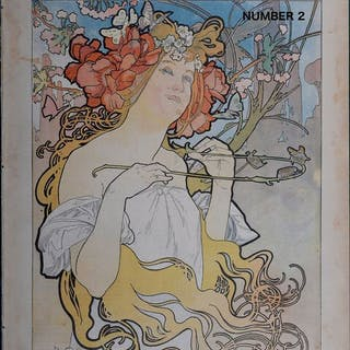 Alphonse Mucha - Soleil du dimanche 1897 - Original lithograph cover