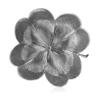 Fabulous Four-Leaf Clover in Sterling Silver - .925...