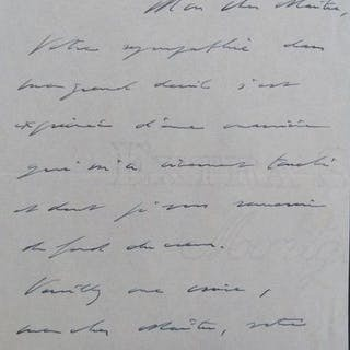 Charles de Gaulle - Autograph; Signed letter with thanksgiving - 1948