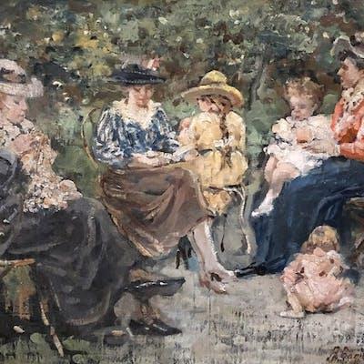 Ragione Raffaele (1851 - 1919) - Al parco