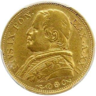 Italia - Stato Pontificio -  20 Lire 1867-XXIIR in NGC Slab - Oro