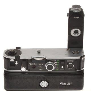 Nikon , nice motor drive MD-2 with MB-1 battery holder for Nikon F2 cameras