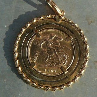 Vereinigtes Königreich - 1Sovereign 1897 Victoria - Munzhänger - Gold