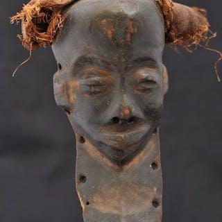 """Mask (1) - Raphia, Wood - Masque """"Mbuya"""" - Pende - Congo DRC"""