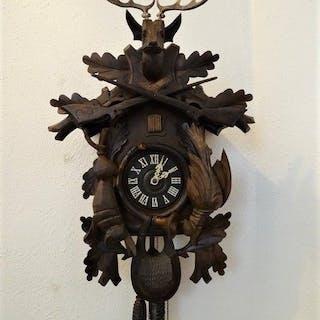 Black Forest Wall Clock - Gustav Franz - Iron (cast/wrought)