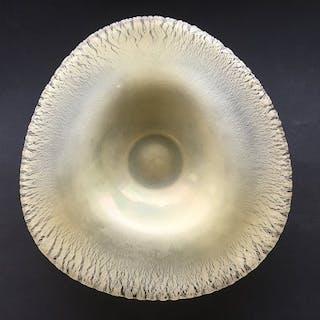 "A.D. Copier - Leerdam - bowl tin crackle ""Serica No. 36"" SERICA COPIER- 1931"