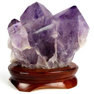 Ametista (varietà viola di quarzo) Punta di cristallo - 16×15×10 cm - 2085 g