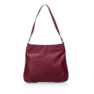Gucci - Leather Horsebit Hobo Bag Hobo Bag