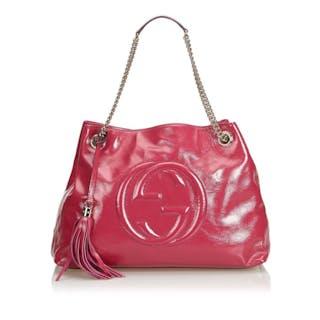 Gucci - Soho Patent Leather Chain Shoulder Bag Borsa a spalla