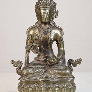 Besetzung Figur von Vajradhara - Bronze - Tibet - Zweite Hälfte des 20
