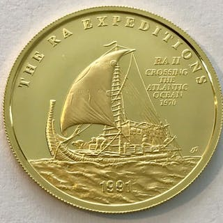 Samoa - 100 Dollar 1991 - The RA Expeditions- Gold