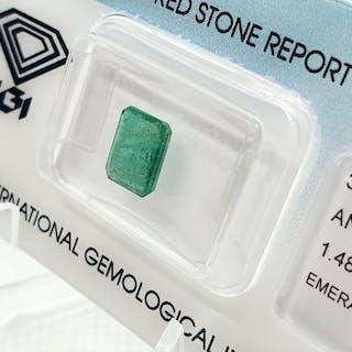 Bluish Green Emerald - 1.48 ct