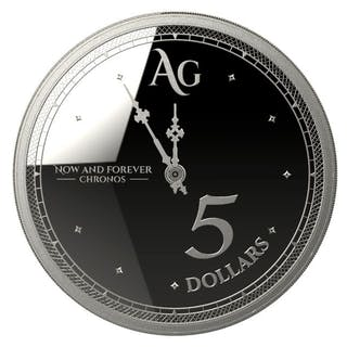 Tokelau - 5 Dollar 2019 Chronos - The Time - 1 oz- Silber