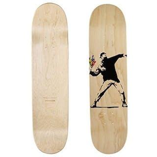 "Medicom x SYNC x Brandalism (after Banksy) - Skateboard ""Flower Bomber"""