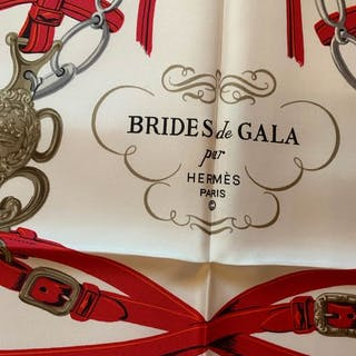 Hermès - Bride de Gala  Hermes mai usato perfetto , rosso e arancio  Sciarpa