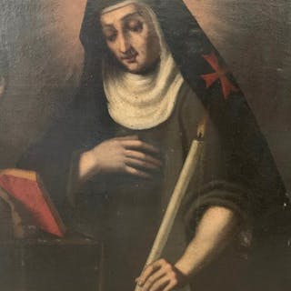 scuola italiana 17 secolo  - Santa Brigida