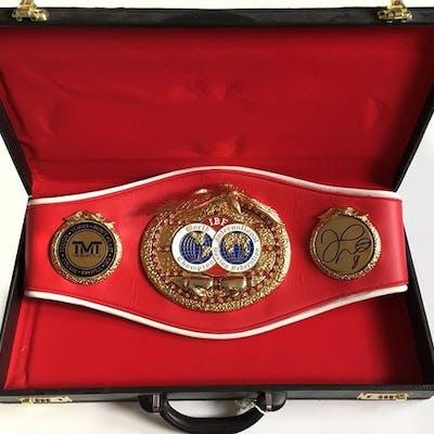 Personally signed - Boxing - Floyd Mayweather Jr - Full Size IBF Boxing Belt