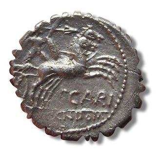 Repubblica romana - AR Denarius serratus
